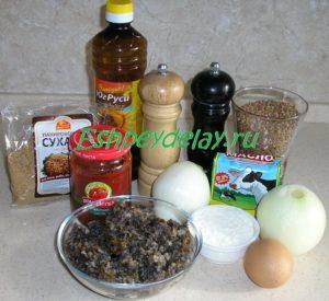 Рецепт тефтелей из гречки с грибами