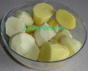 картофель порезанный пополам
