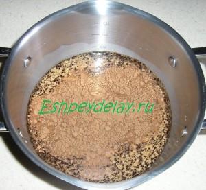 какао и кофе в молоке