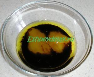 оливковое масло, соевый соус и мед