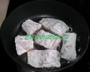 судак на сковороде