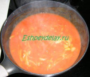 томатный соус для тефтелей из гречки