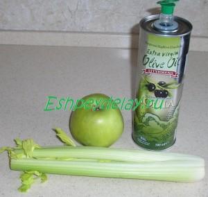 рецепт салата с сельдереем и яблоком