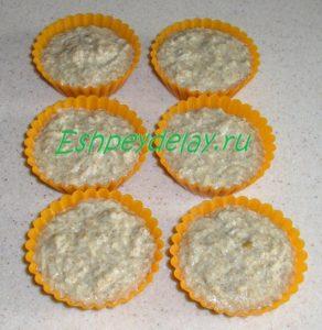 тесто для овсяных капкейков в формочках
