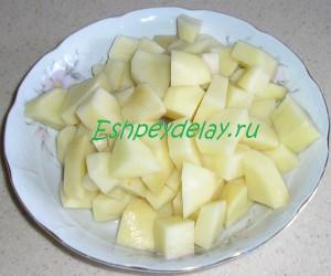 картошка для борща с фасолью