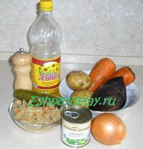 Рецепт салат винегрет