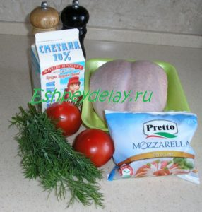 Рецепт куриной грудки с моцареллой и помидорами