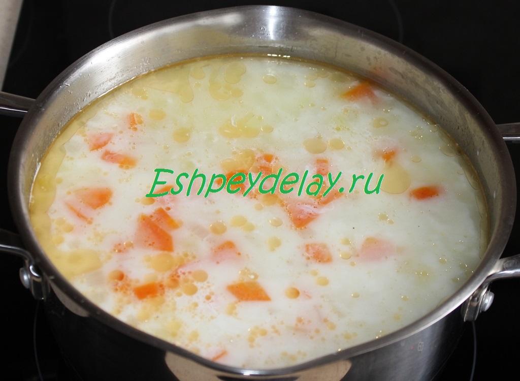 суп с креветками рецепт с фото со сливками и