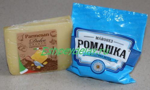 майонез и сыр для рыбного рулета из карася