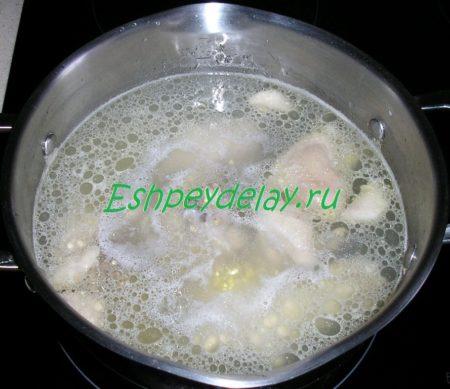 куриный бульон для супа с пшеном