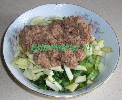 тунец консервированный с овощами