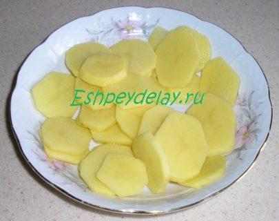 кружочки картошки в тарелке