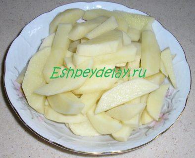 картофель для украинского борща