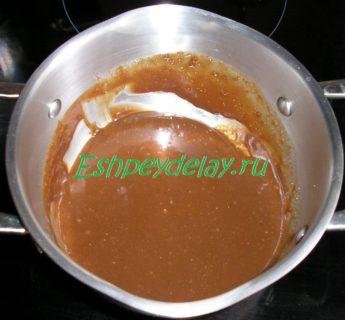 шоколадный соус для тыквы с апельсином