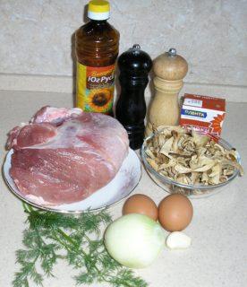 Рецепт кручеников с грибами