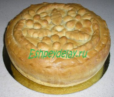 пирог дрожжевой с судаком