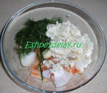 начинка для осетра с брюшками семги