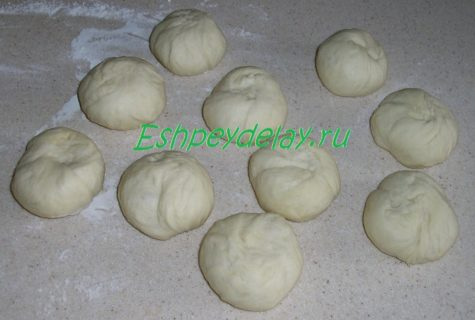 шарики из теста для пирожков