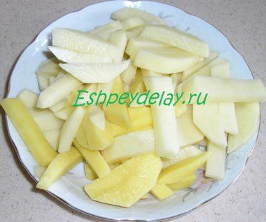 картошка брусочками