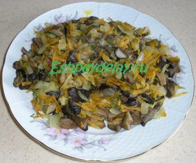 обжаренные грибы для судака