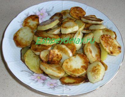 картофель для судака с грибами