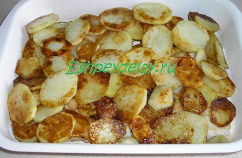 слой обжаренного картофеля