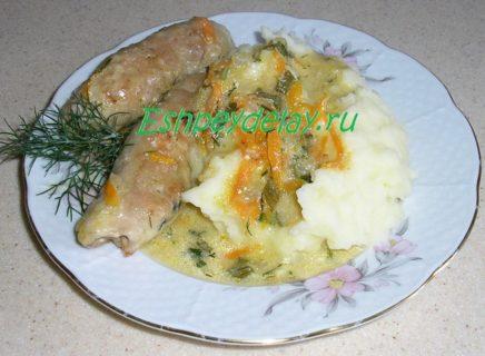 мясные пальчики с картофельным пюре