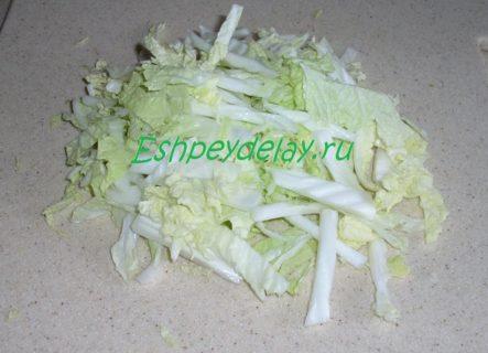 пошинкованная пекинская капуста
