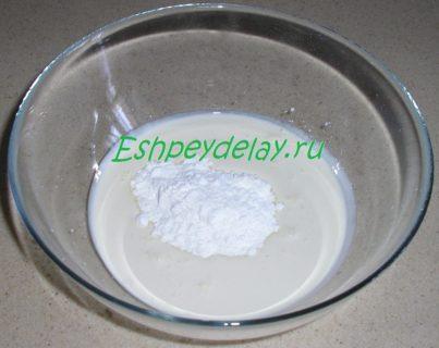 сахарная пудра в сливках