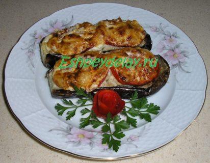 баклажаны фаршированные запеченные в духовке