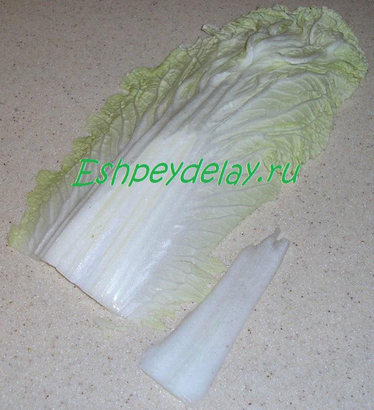 лист пекинской капусты