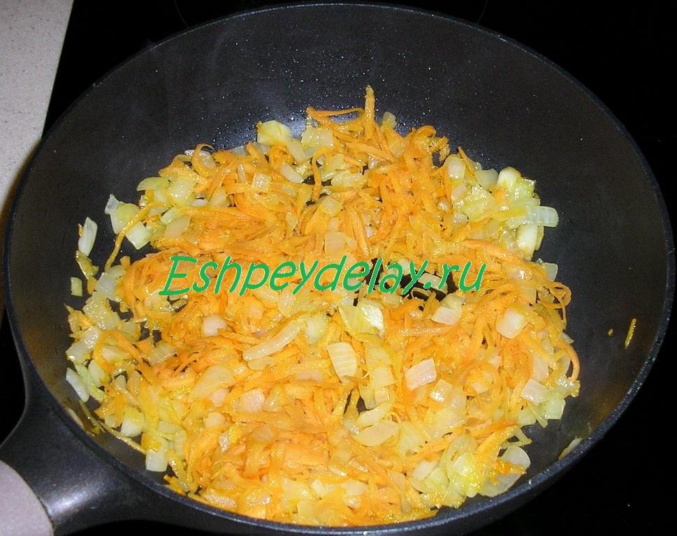 лук с морковкой обжаренные