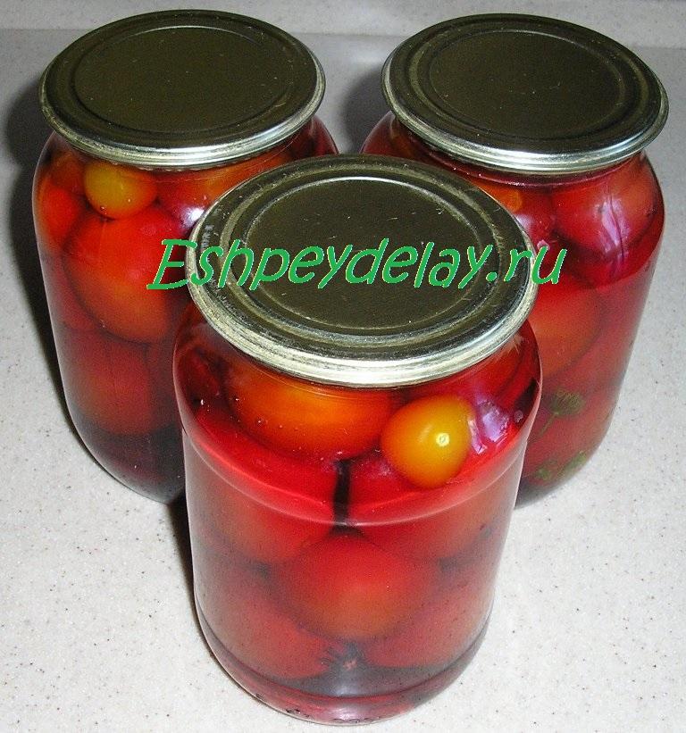 маринованные помидоры со свеклой