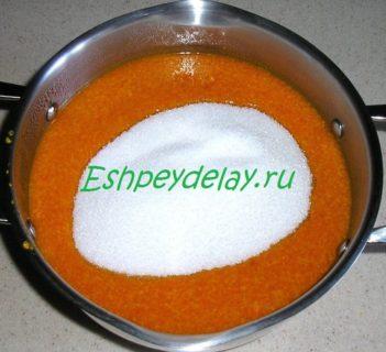 облепиховый сок с сахаром
