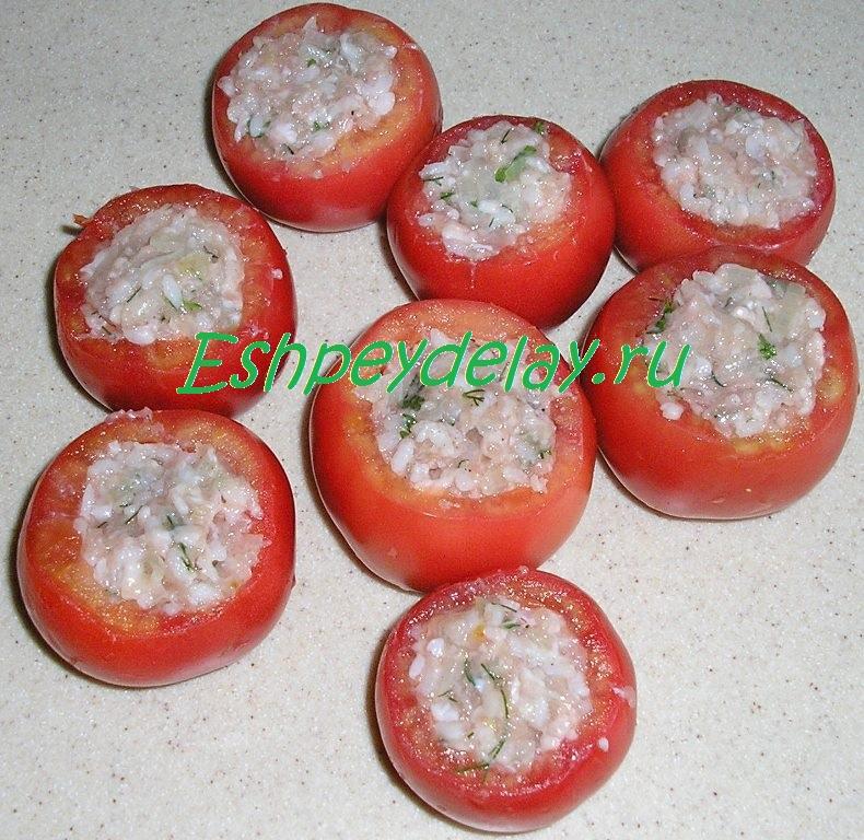 помидоры с фаршем