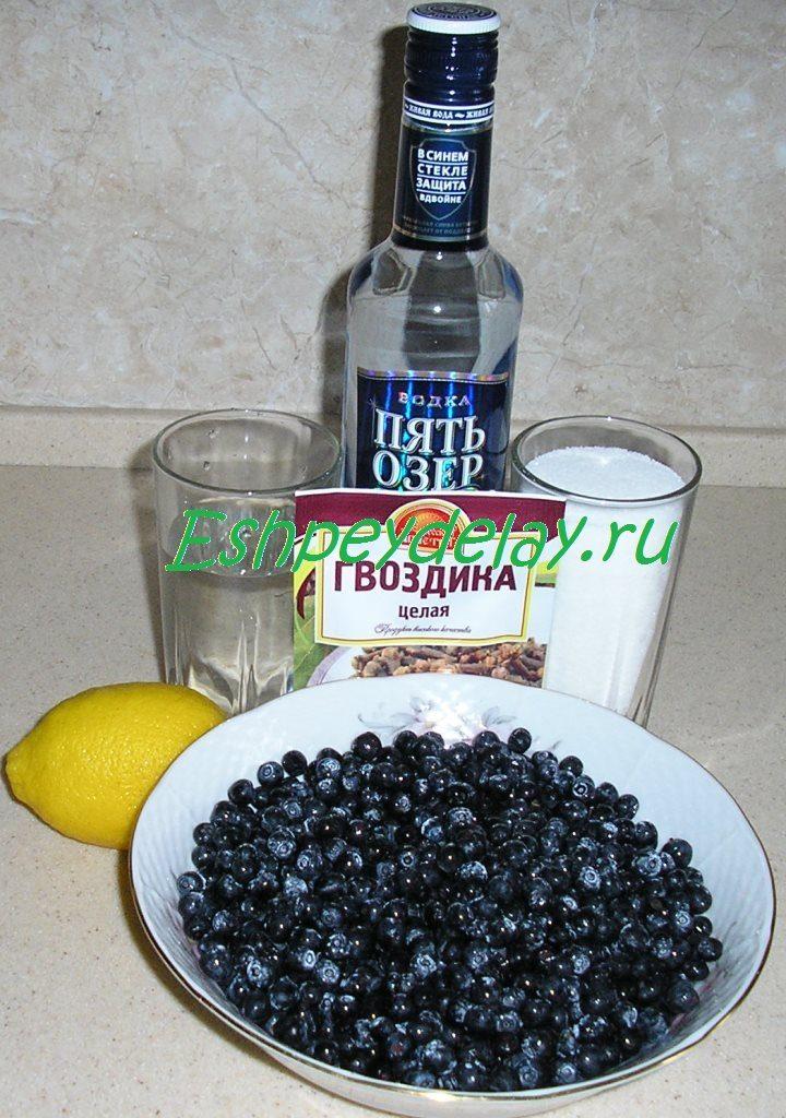 рецепт ликера из черники