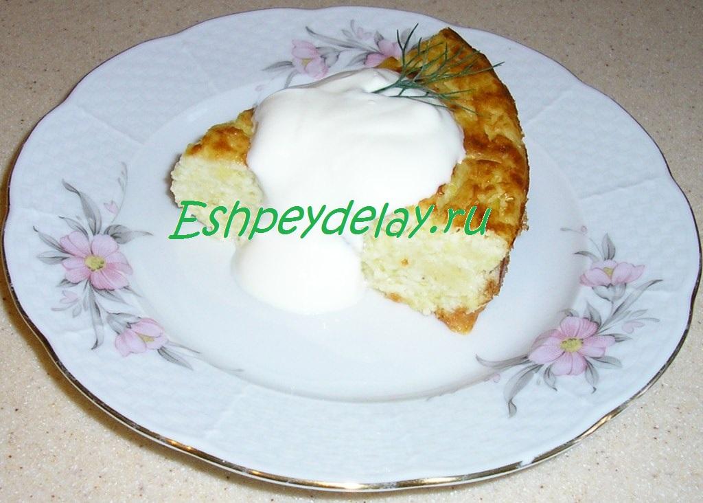 запеканка из кабачков с плавленным сыром