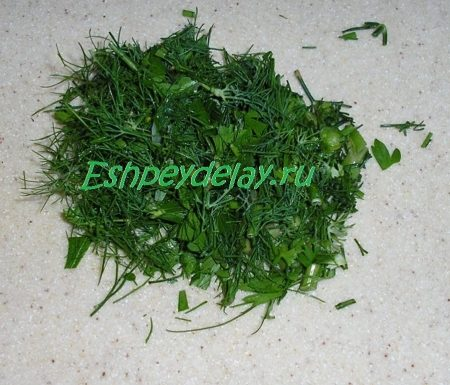 зелень нарезанная