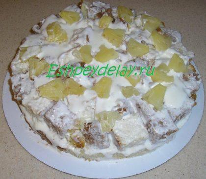 ананасовый слой торта