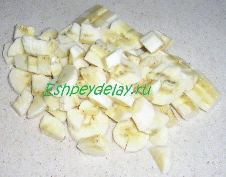 бананы нарезанные кусочками