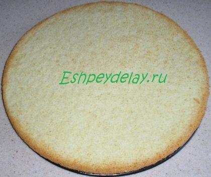 бисквит для ананасового торта