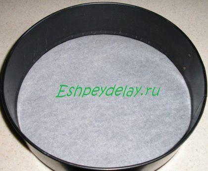 бумага для выпечки в форме для запекания