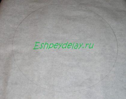 круг на бумаге для выпечки