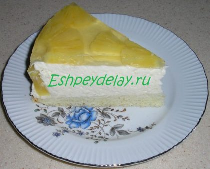 кусок ананасового торта