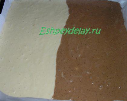 простое и шоколадное тесто