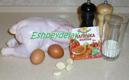 рецепт куриный рулет с омлетом