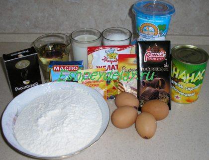 рецепт домашнего торта панчо с ананасами