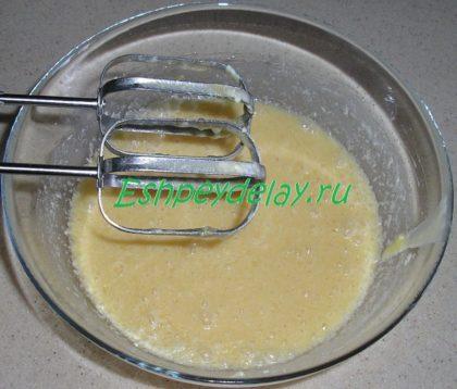 смесь из масла и яиц