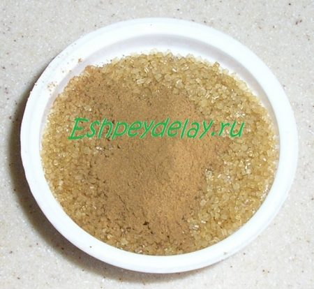 тростниковый сахар с корицей