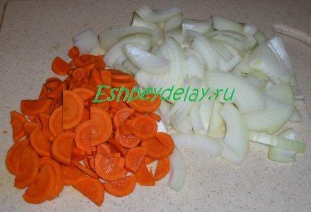 лук соломкой морковь полукольцами